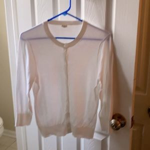 J.Crew | White Sweater Button Down Size LG